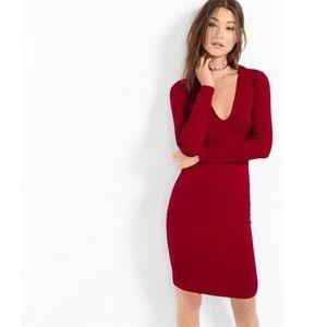Express Low-V Dress